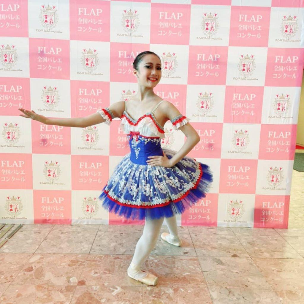 8月28日(土)FLAP全国バレエコンクールに阿部里咲が出場し、優秀賞をいただきました。